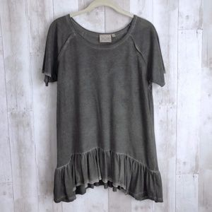 Dantelle Drop Waist OilDye Raglan Exposed Seam Top